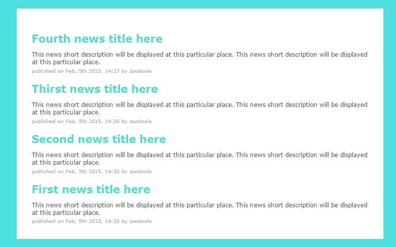 list news