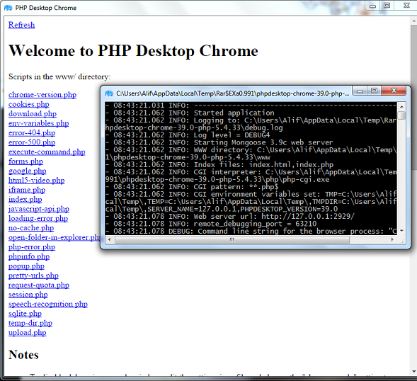 Create your first Desktop Application with PHP and PHP Desktop