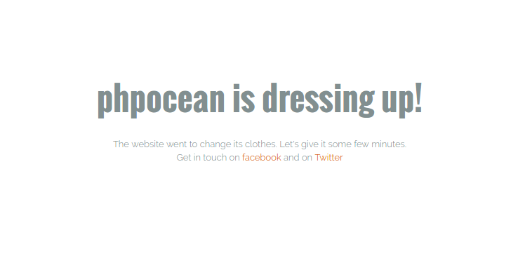 phpocean.com maintenance mode