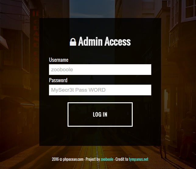 Make your first CRUD with PHP - Part 2 : Admin login panel